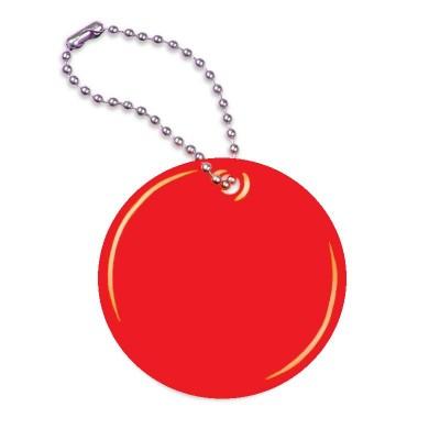 Zawieszka odblaskowa - kółko czerwone