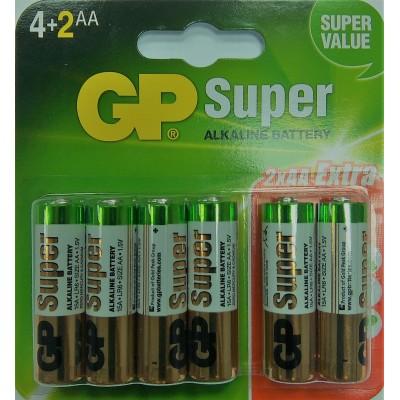 Baterie Alkaline LR06 - AA. 1 opakowanie - 6szt