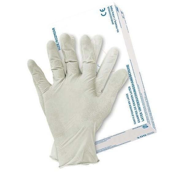 """Rękawice latex pudrowane """"S"""". 1 opakowanie - 100 szt."""
