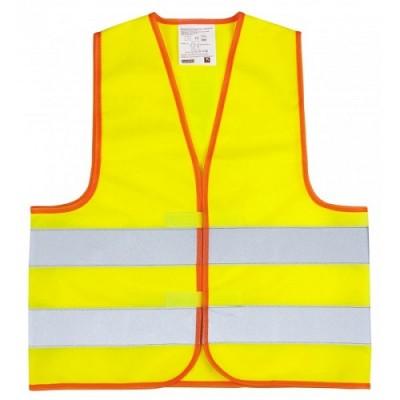 Kamizelka odblaskowa dla dzieci - żółta 42 cm x 45 cm