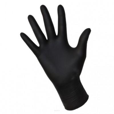 Rękawice nitrylowe czarne. Rozmiar S - 100 szt.