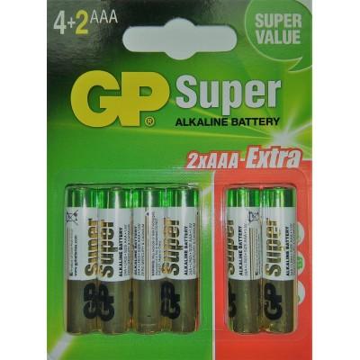 Baterie GP Alkaline LR03 - AAA. 1 opakowanie - 6szt